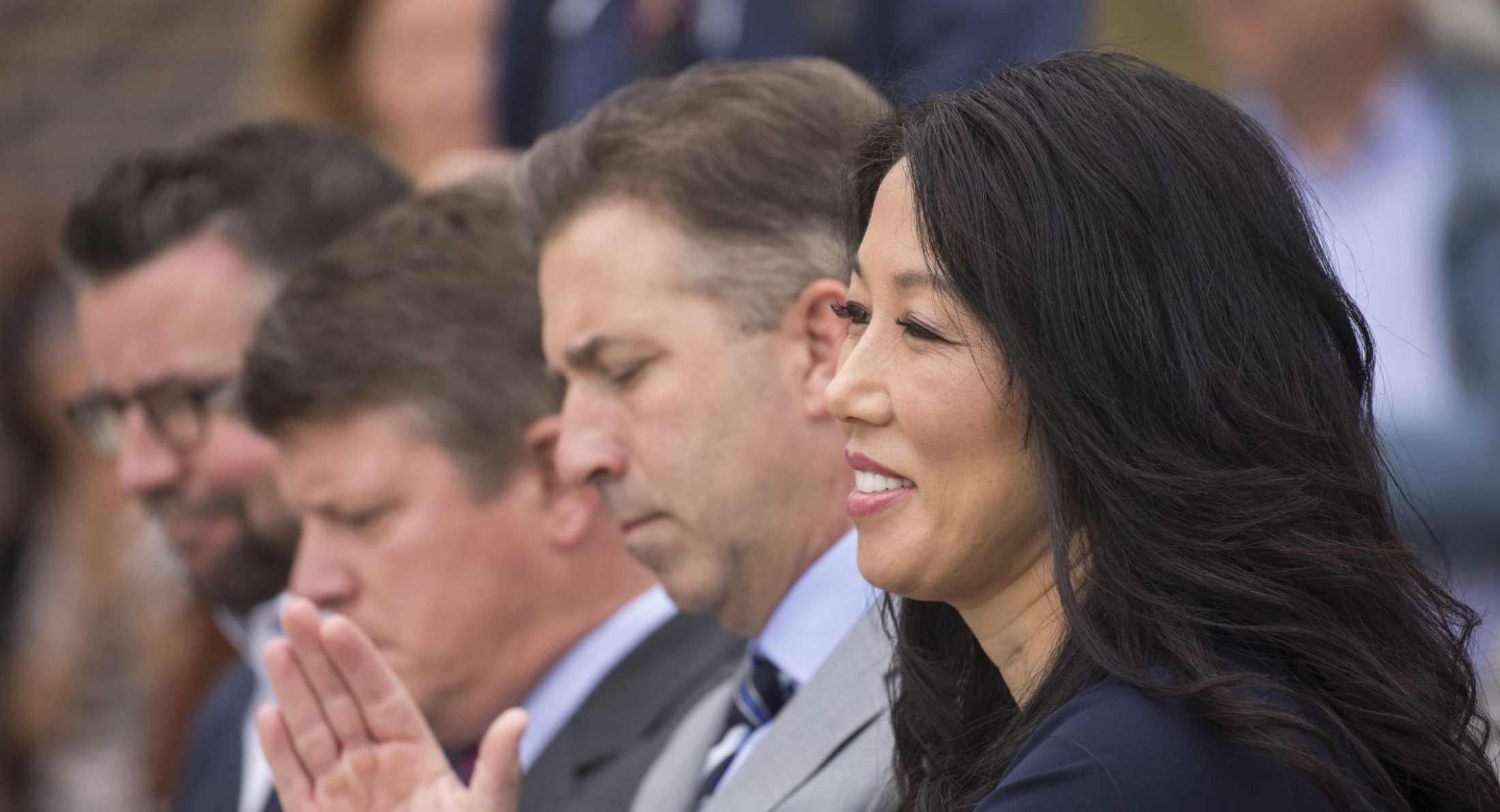 'It was very disheartening that it had to happen,' Kim Pegula said of Russ Brandon's departure. (Derek Gee/News file photo)