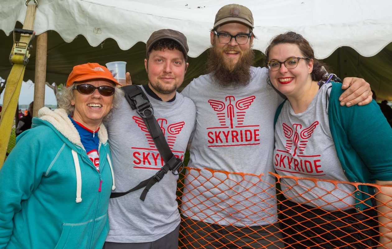 Smiling faces at the SkyRide in 2017; the cycling event returns May 20. (Don Nieman/Special to The News)