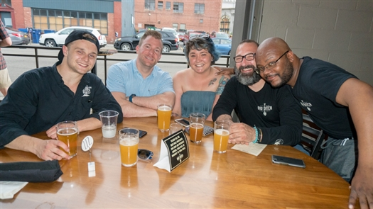 Smiles at Big Ditch Brewing's third anniversary party