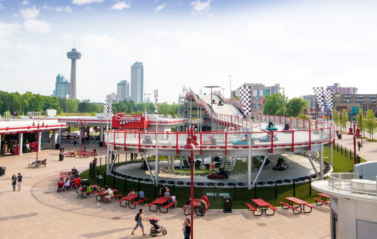 The three-story go-kart track at Clifton Hill opens this summer. (Niagara Speedway)