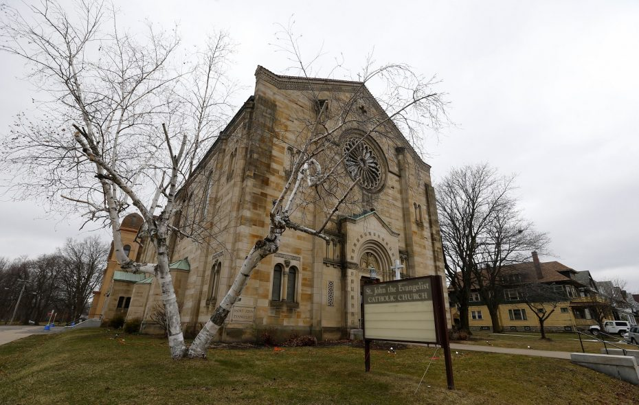 St John the Evangelist in South Buffalo is one of the parishes where the Rev. Mark Father Wolski served. (Mark Mulville/Buffalo News)