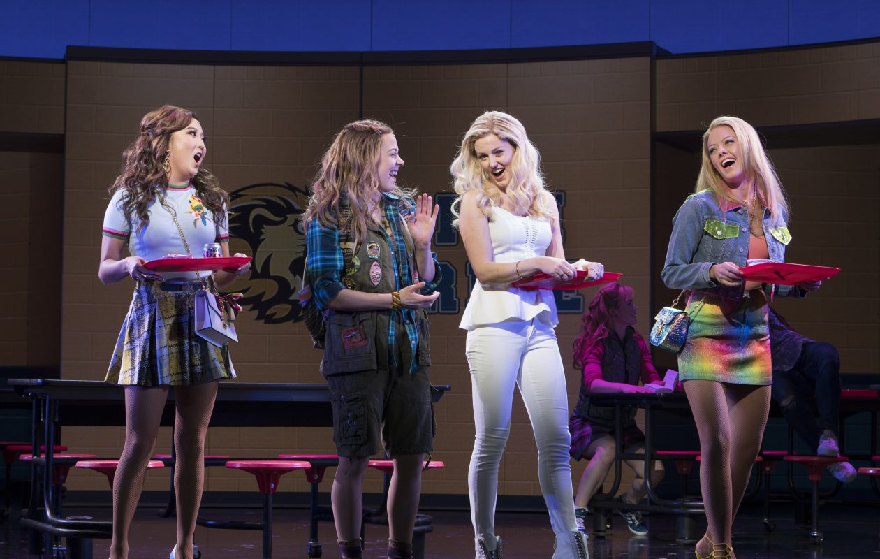 Ashley Park, Erika Henningsen, Taylor Louderman and Kate Rockwell in the musical 'Mean Girls' at the August Wilson Theater in New York. (Sara Krulwich/New York Times)