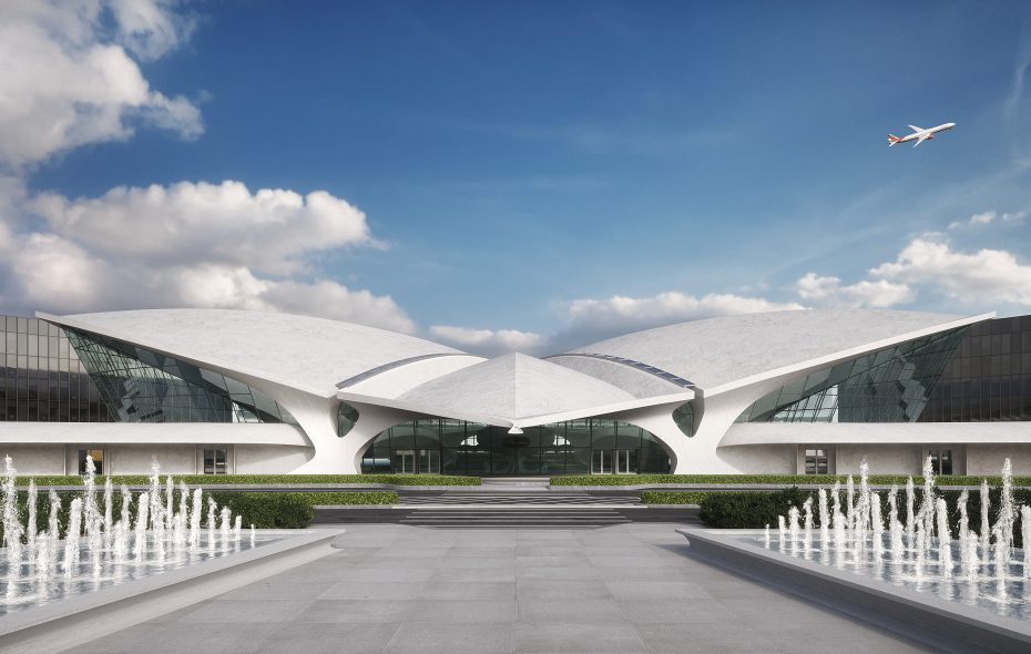 The TWA Hotel at JFK Airport will revitalize the former TWA Flight Center. (provided image)