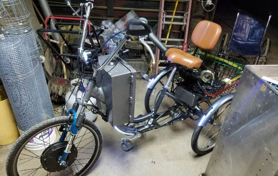 This custom tricycle was stolen, leaving its owner without a way to get around. (Courtesy Bryan Neilsen)