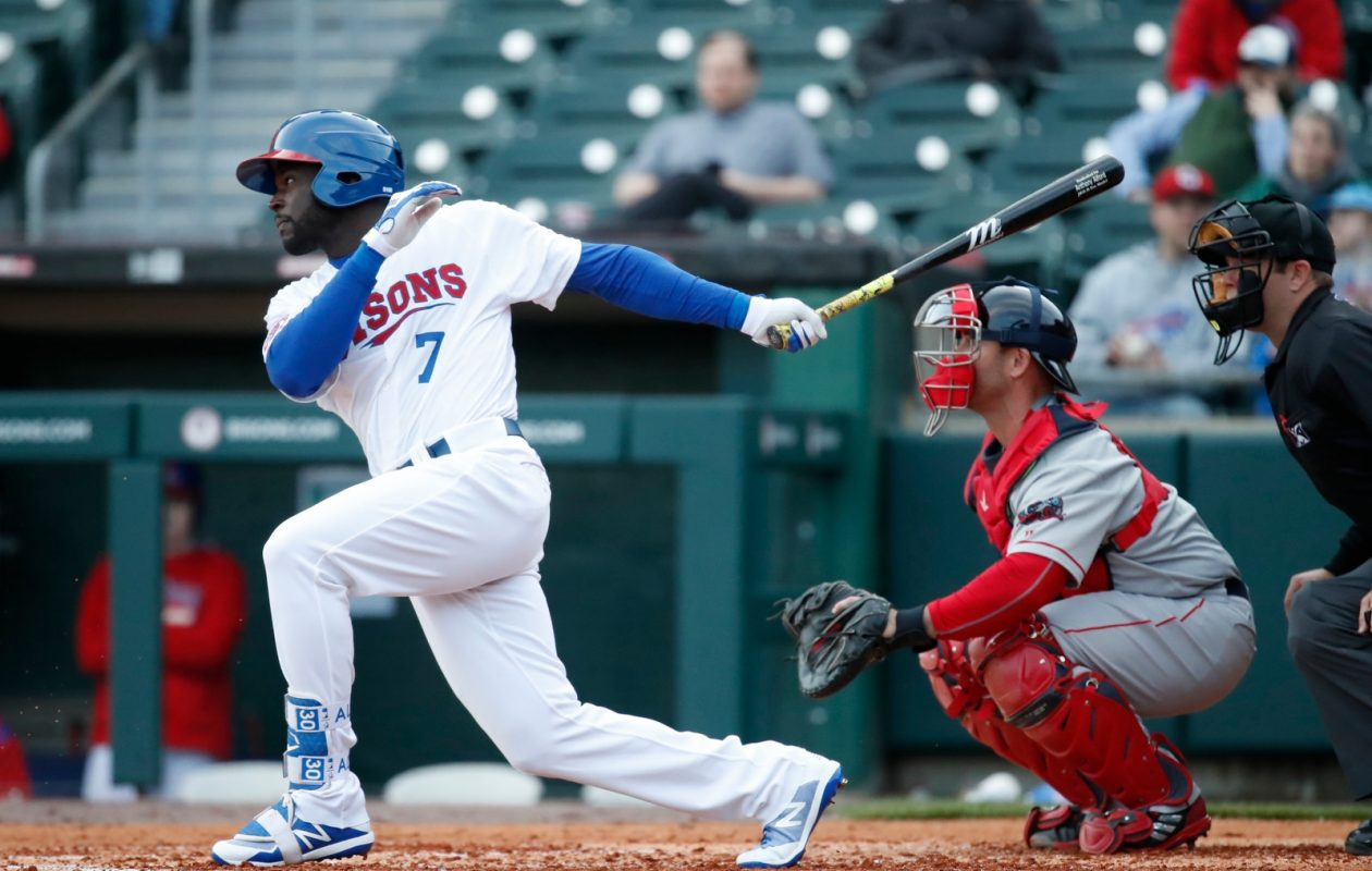 Anthony Alford is one of the Blue Jays' top prospects playing in Buffalo. (Harry Scull Jr./News file photo)