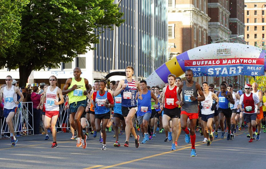 More than 7,000 people participated in the 2019 Buffalo Marathon. (Harry Scull Jr./News file photo)
