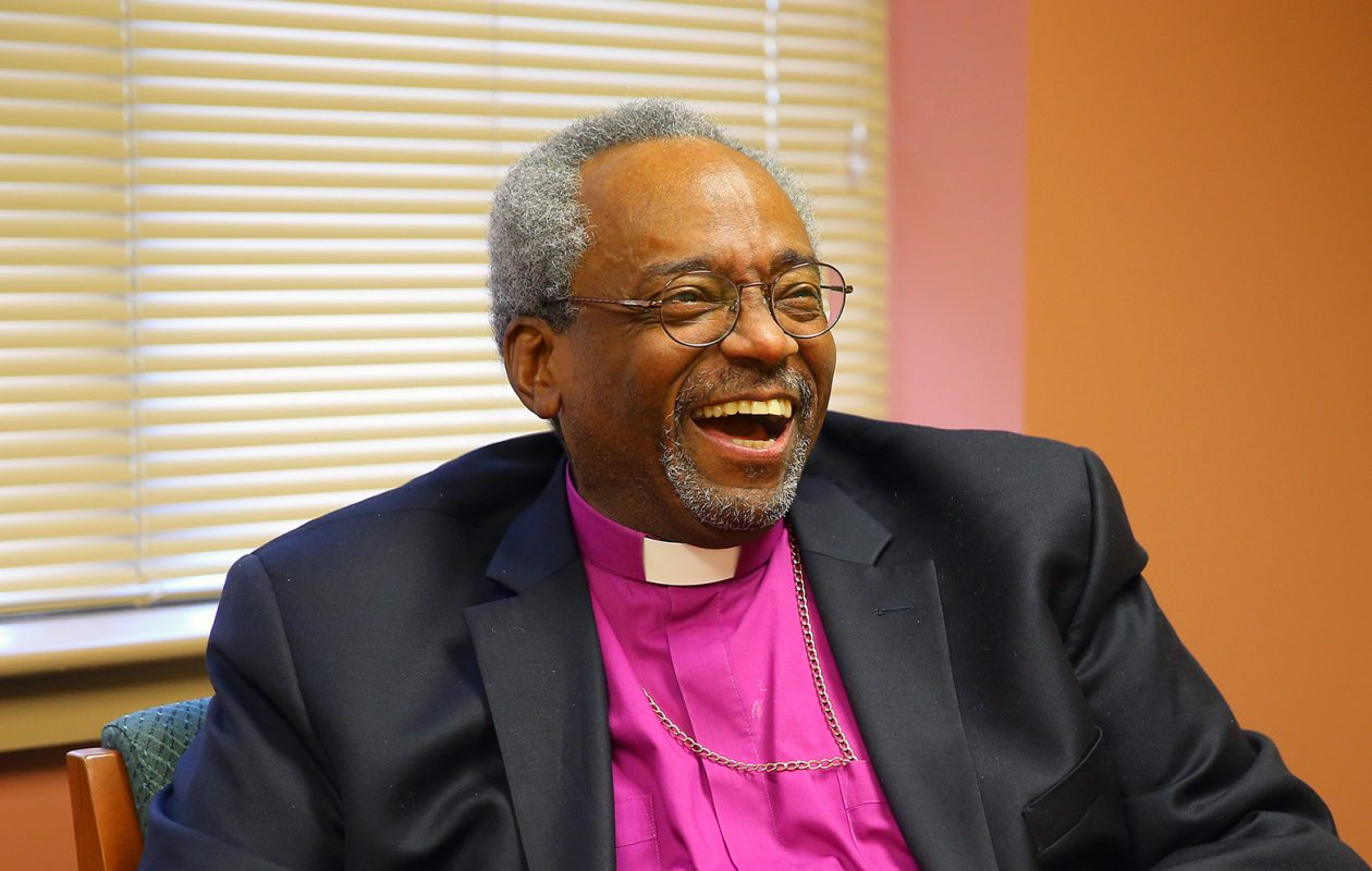Episcopal Bishop Michael Curry during a visit to Buffalo in 2017. (John Hickey/The Buffalo News)