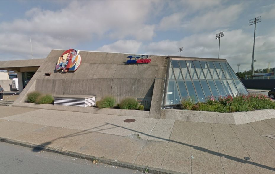 A person was stabbed Friday morning at the Delavan-Canisius College Metro Rail Station at Main Street and East Delavan Avenue. (Google Streetview)
