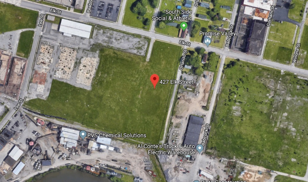 The site proposed for an athletic complex at 427 Elk St. (Google Maps)