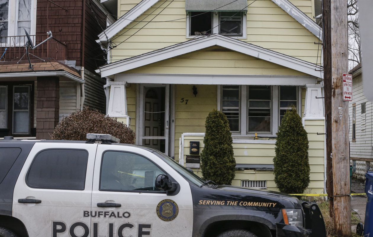 A man has been indicted on murder charges for the fire at at 57 Manhattan Ave. , above, that killed, Elisabeth Bell, 28, badly burned him and also burned her daughter. (Derek Gee/Buffalo News)