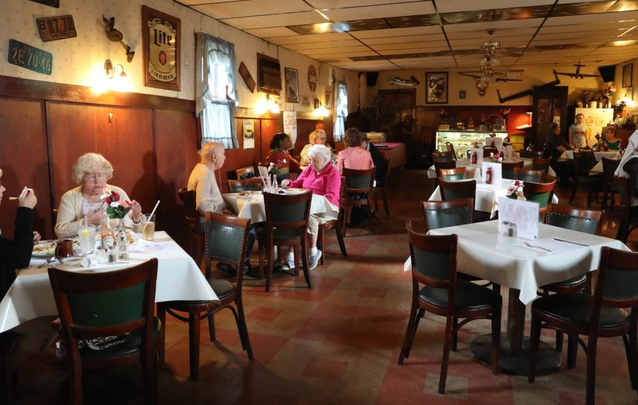 On a recent Friday, the only day the kitchen is open at the Happy Swallow, it was like going back in time. (Sharon Cantillon/Buffalo News)