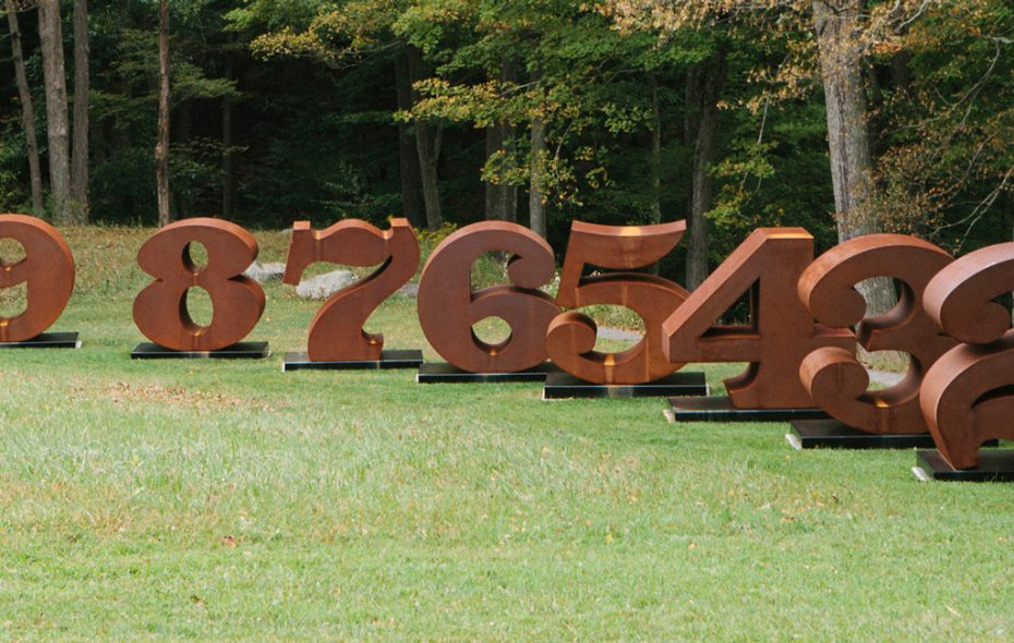 """""""NUMBERS ONE through ZERO,"""" a collection of massive steel sculptures by Robert Indiana, will be installed in early June along Buffalo's Outer Harbor."""