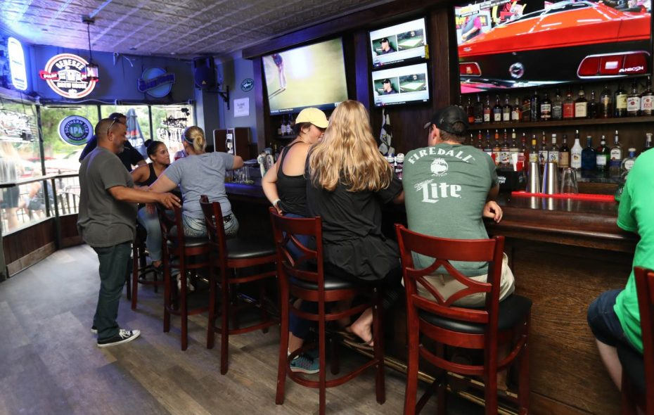 JP's Checkers has new floors, remodeled bathrooms, a refinished bar, new TVs and grill, 16 new beer taps and a projector. (Sharon Cantillon/Buffalo News)