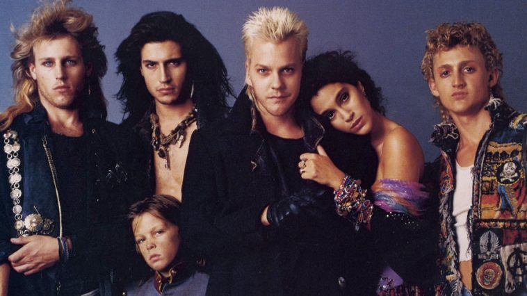 The teenage vampire film 'The Lost Boys' will be shown as part of Retro Tuesdays at the Transit Drive-In. Yes, that's Kiefer Sutherland in the middle with the fashionable '80s vampire mullet.