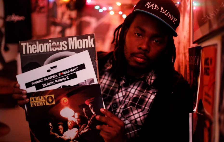 """Buffalo rapper Mad Dukez said, """"Hip-hop has always been known for its jazzy rhythms and samples of jazz recordings."""" (Mark Mulville/Buffalo News)"""