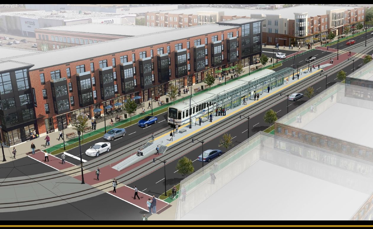 Town of Amherst officials envision a mixed-use redevelopment of the Boulevard Mall along Niagara Falls Boulevard, including residential, retail and office space served by an extension of the NFTA Metro Rail.