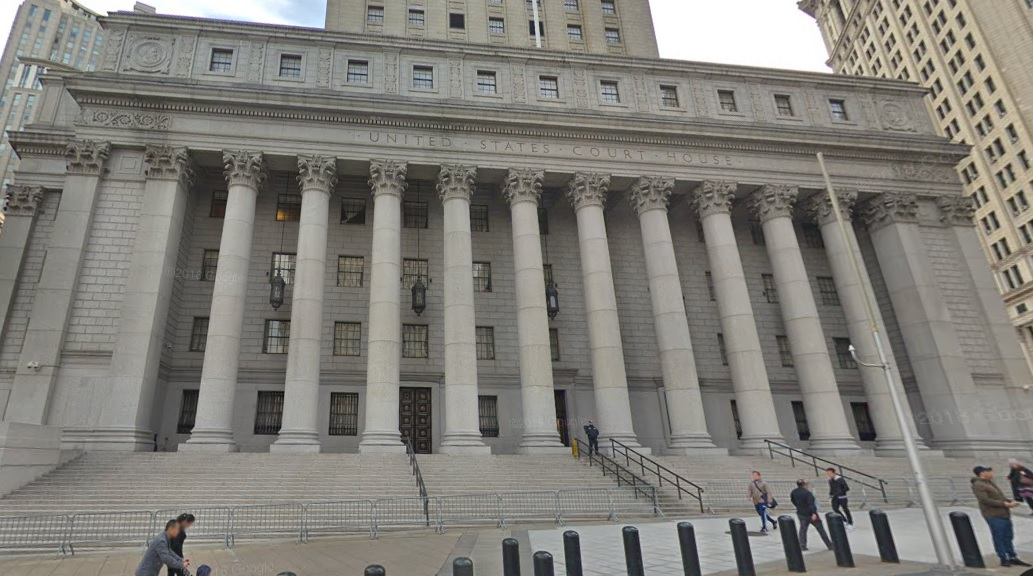 The federal courthouse in Manhattan. (Google image)