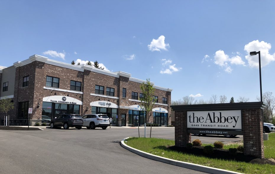 The Abbey, a mixed retail housing development at 6449 Transit Road in Clarence, where the Clarence IDA rejected a request for a property tax break from the owner. (Photo courtesy of Russell Salvatore Jr.)
