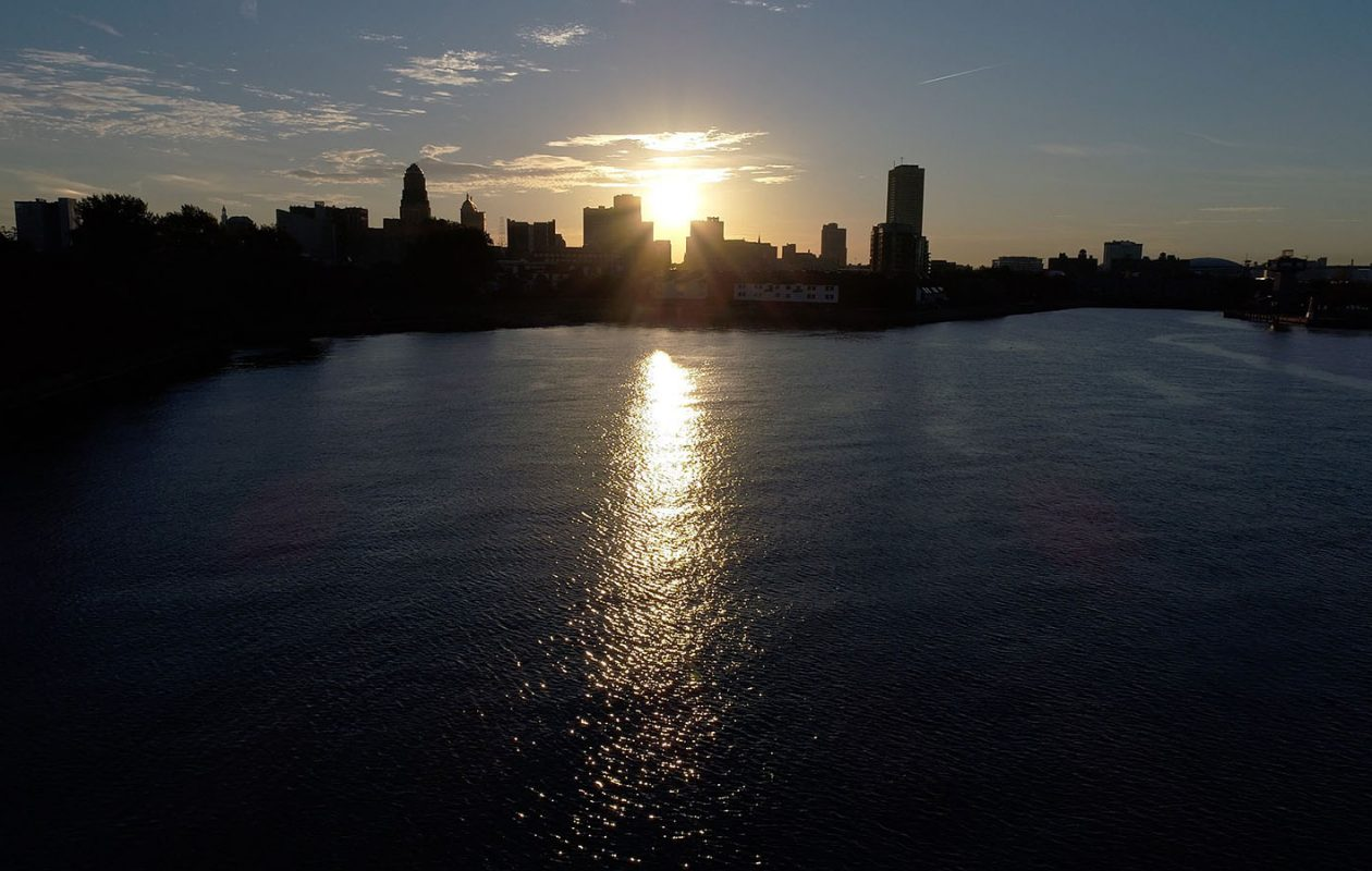 The sun rises behind the City of Buffalo. (Derek Gee/News file photo)