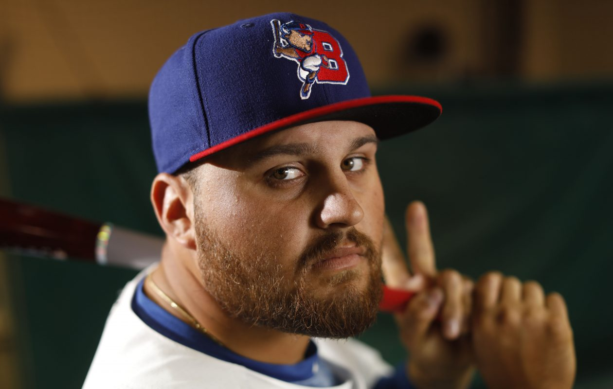 Buffalo Bisons first baseman Rowdy Tellez is hitting .355 in his last 10 games. (Derek Gee/Buffalo News)