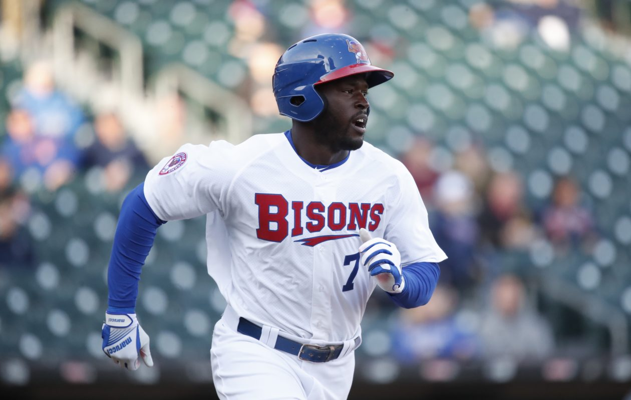 d8b23afa3c7 Buffalo Bisons Anthony Alford was also a football start at Mississippi.  (Harry Scull Jr