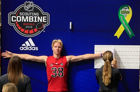 Rasmus Dahlin at the 2018 NHL Scouting Combine