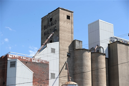 The architectural firm Young + Wright will soon move into a building attached to a grain silo on Elk Street. It was home to Buffalo Malting Co., built in 1926 to serve area breweries. The architects hope to pay homage to its past by creating a malt museum. The four round silos and five rectangular silos on the property are mothballed for now.