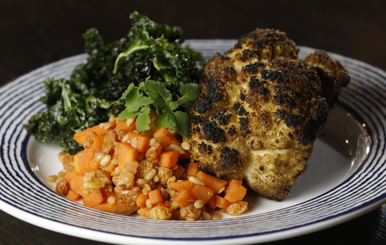 The grilled cauliflower at Rowhouse Bakery and Restaurant. (Derek Gee/Buffalo News)