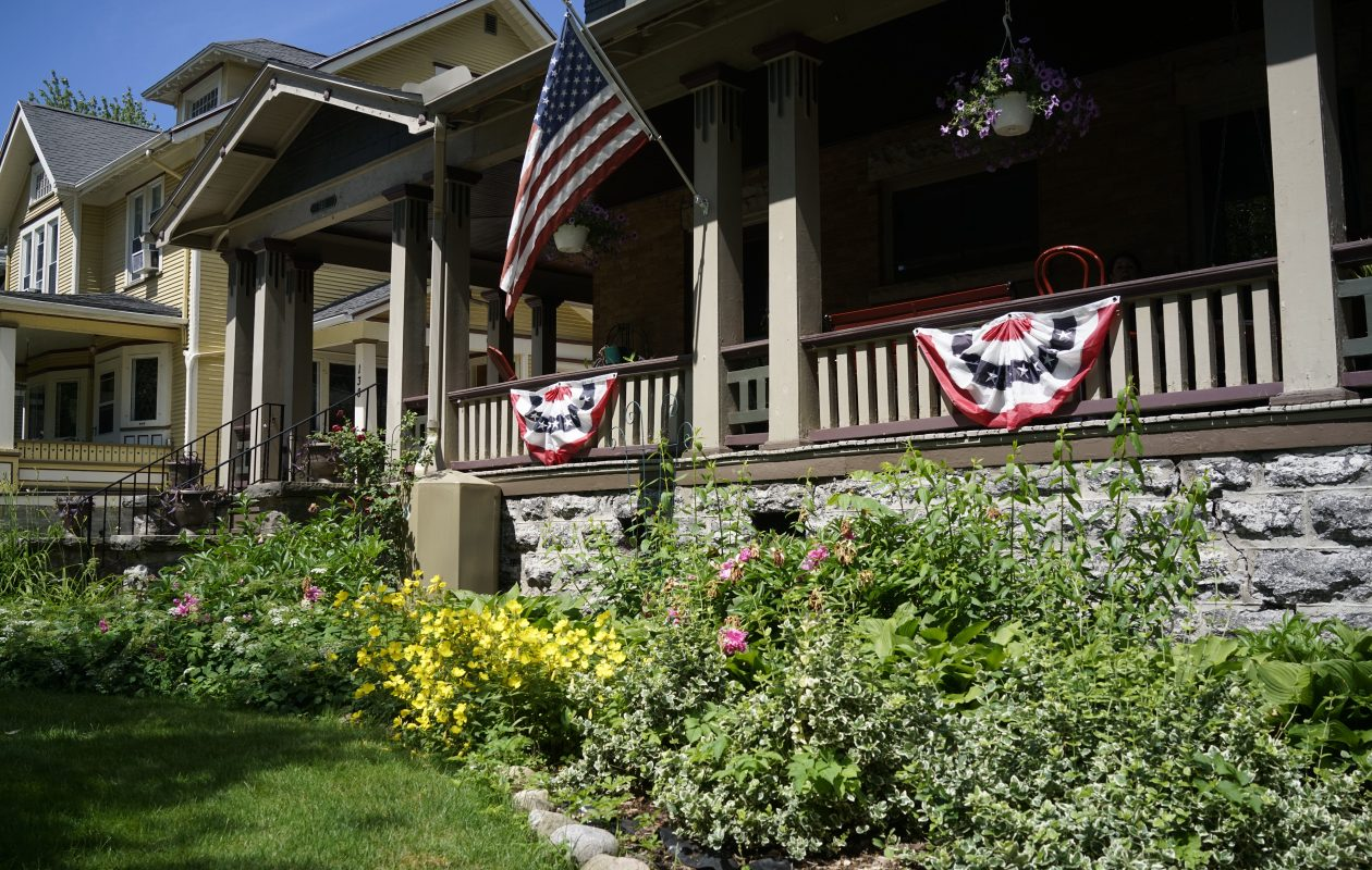 The front porch at the home of Ken and Phyllis Wells in the Parkside neighborhood. (Derek Gee/Buffalo News)