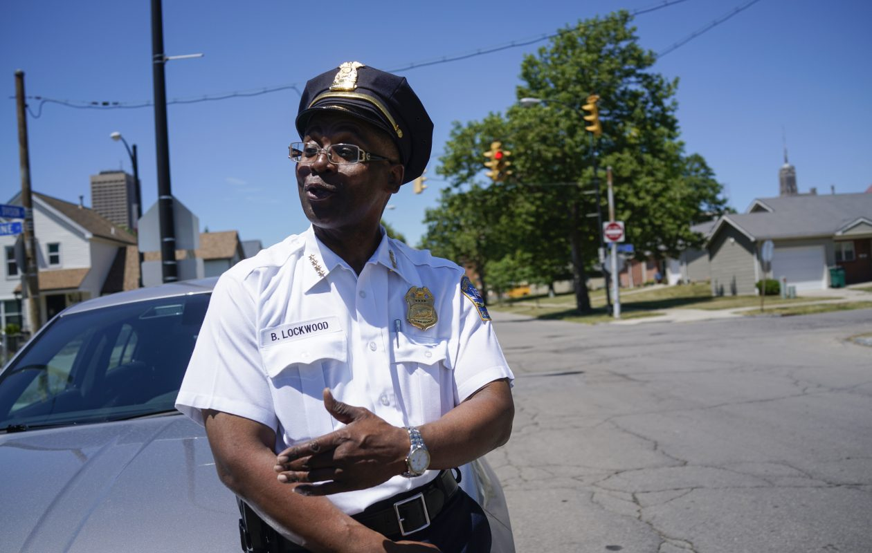 Buffalo Police Commissioner Byron Lockwood on South Division Street in Buffalo in the neighborhood where he grew up, on Tuesday, June 19, 2018. (Derek Gee/Buffalo News)