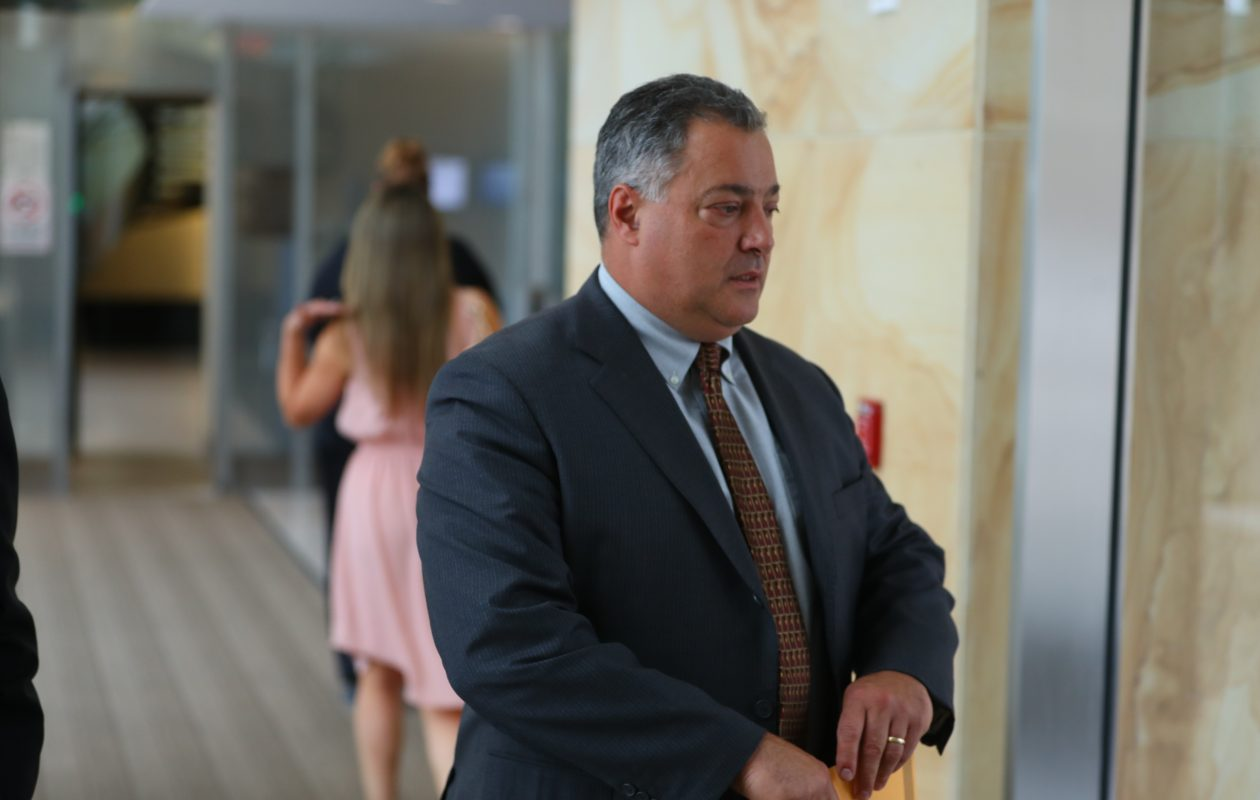 Former state Sen. Marc Panepinto leaves federal court on June 28. (John Hickey/News file photo)