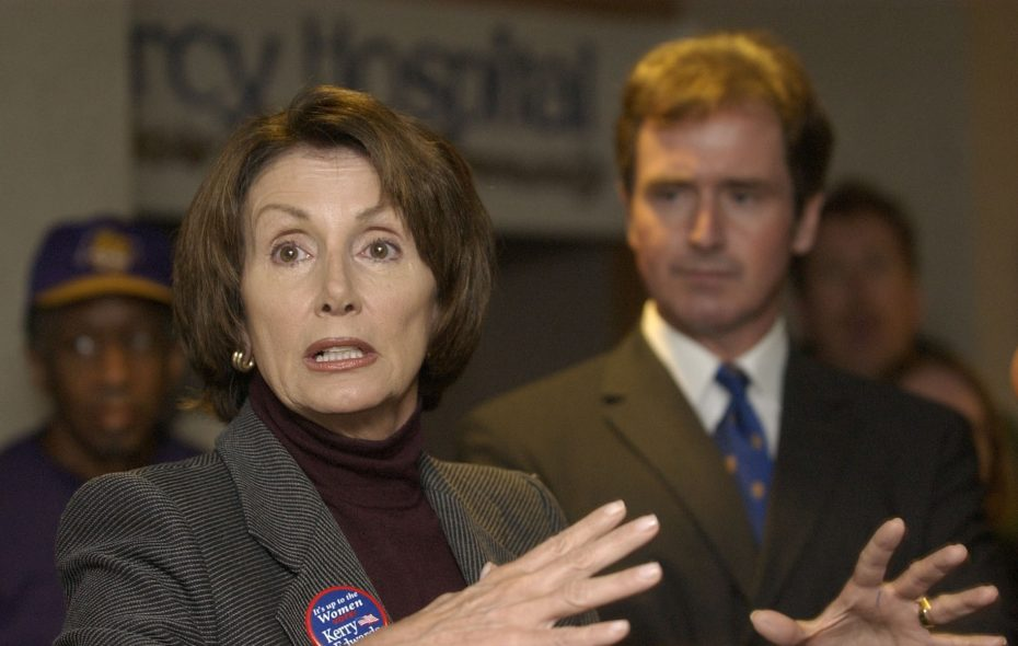 Nancy Pelosi came to Buffalo to campaign for Brian Higgins in 2004. (News file photo)