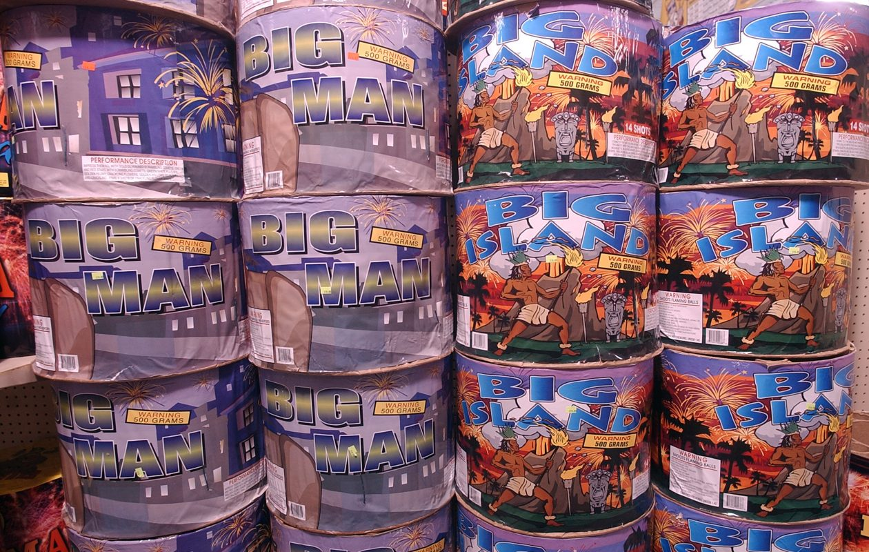 Firework supplies at Sky King Fireworks in North East, Pa. (News file photo)