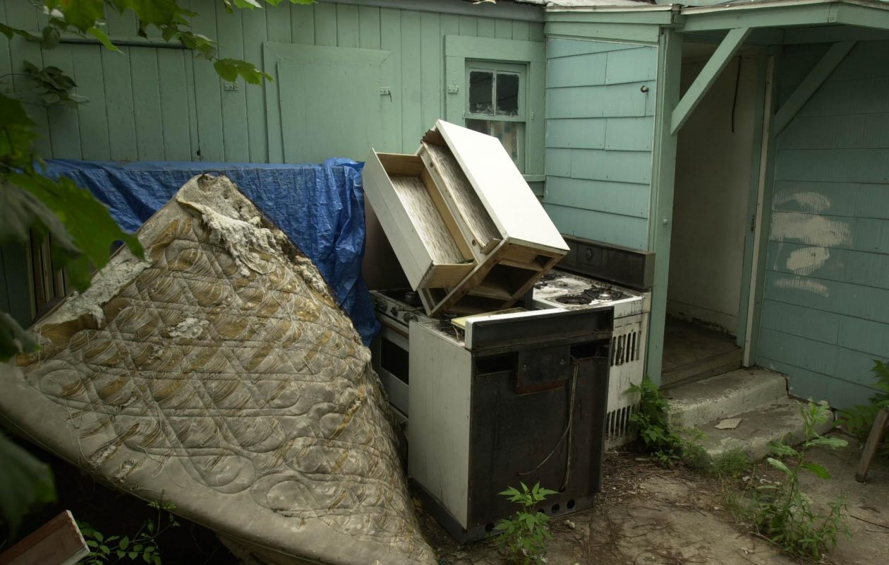 Unkempt properties such as the one in this photo could become less common in Western New York as a result of new state legislation. (News file photo)