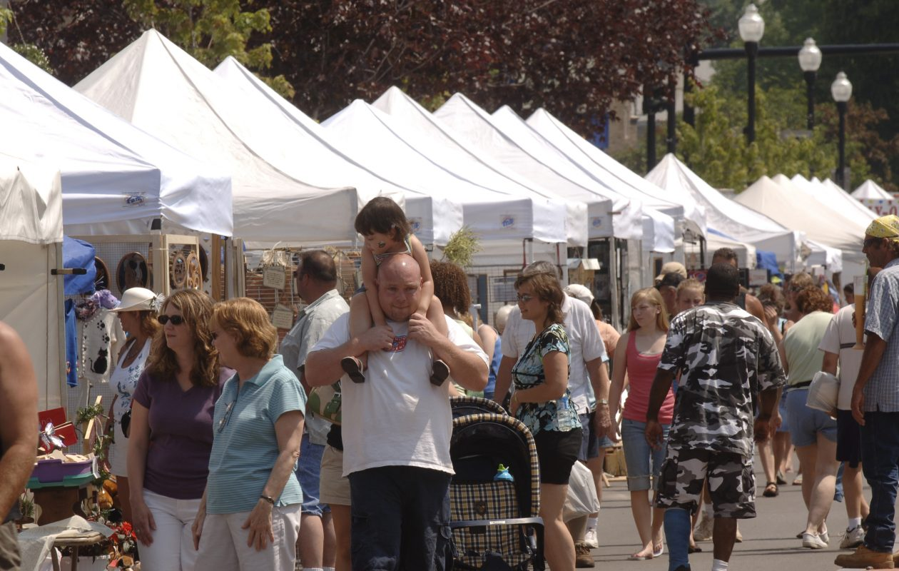 Overview of the 31st annual Evening Optimist Club Arts and Crafts Festival on Main Street in Lockport on June 25, 2006. Photo by Derek Gee