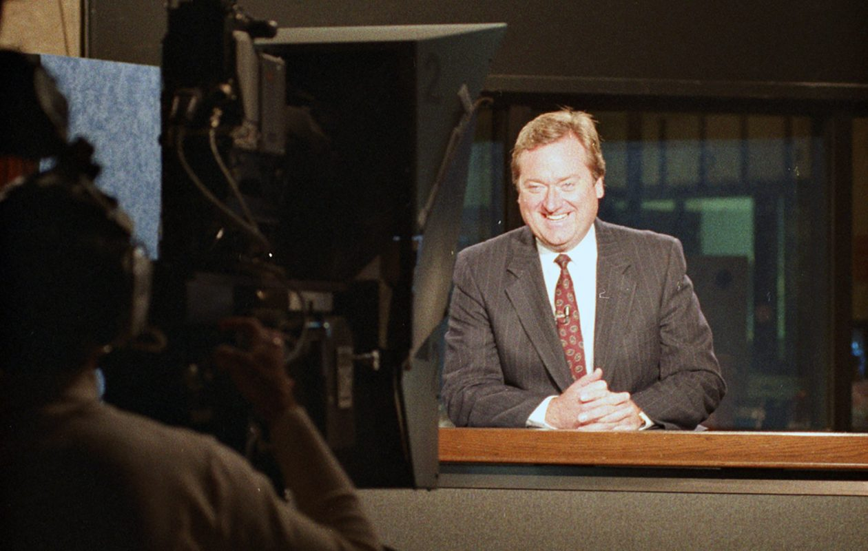 NBC's Tim Russert at the WGRZ-TV studios on Nov. 10, 1993. (News file photo)