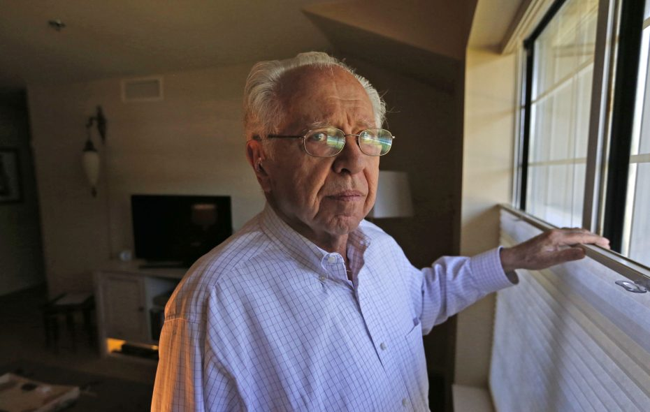 Stephan H. Lewy, a Jewish refugee of World War II, served as an interpreter and interrogator for American forces in battles across Europe. (Robert Kirkham/Buffalo News)
