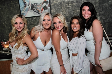 Hundreds gathered for the annual Friends of Carly White Party fundraiser on Saturday, June 23, 2018, in KeyBank Center. New England Patriots tight end Rob Gronkowski was among those in attendance at the fundraiser to fight pediatric cancer. Friends of Carly is an organization affiliated with Roswell Park Comprehensive Cancer Center.