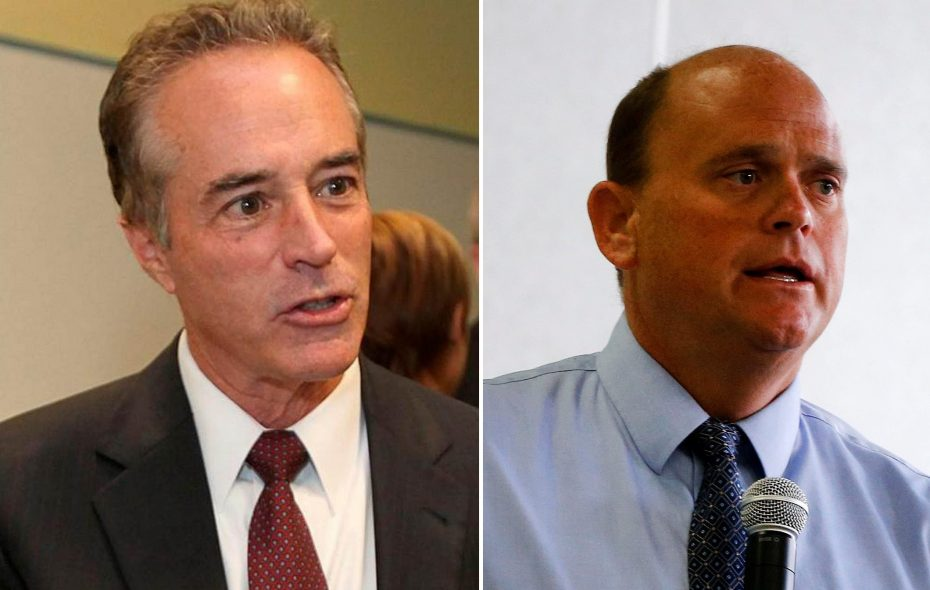Rep. Chris Collins, left, and Rep. Tom Reed, both opposed a Democratic resolution condemning President Trump's tweets about progressive House members of color. (News file photos)