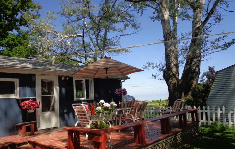 The outside deck is the space for summer entertaining. (Photo courtesy Karen White-Walker)