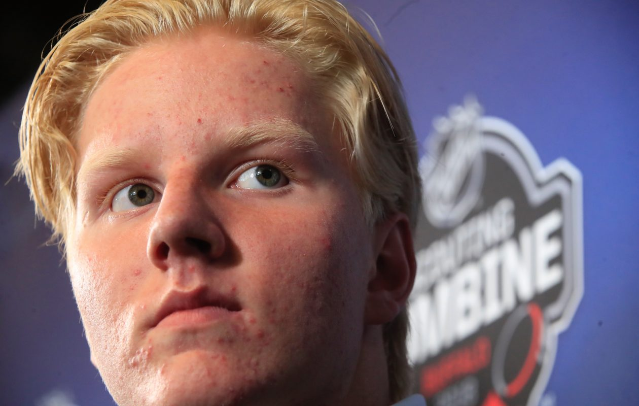 The eyes of the hockey world will be on Rasmus Dahlin Friday night. (Harry Scull Jr./Buffalo News)