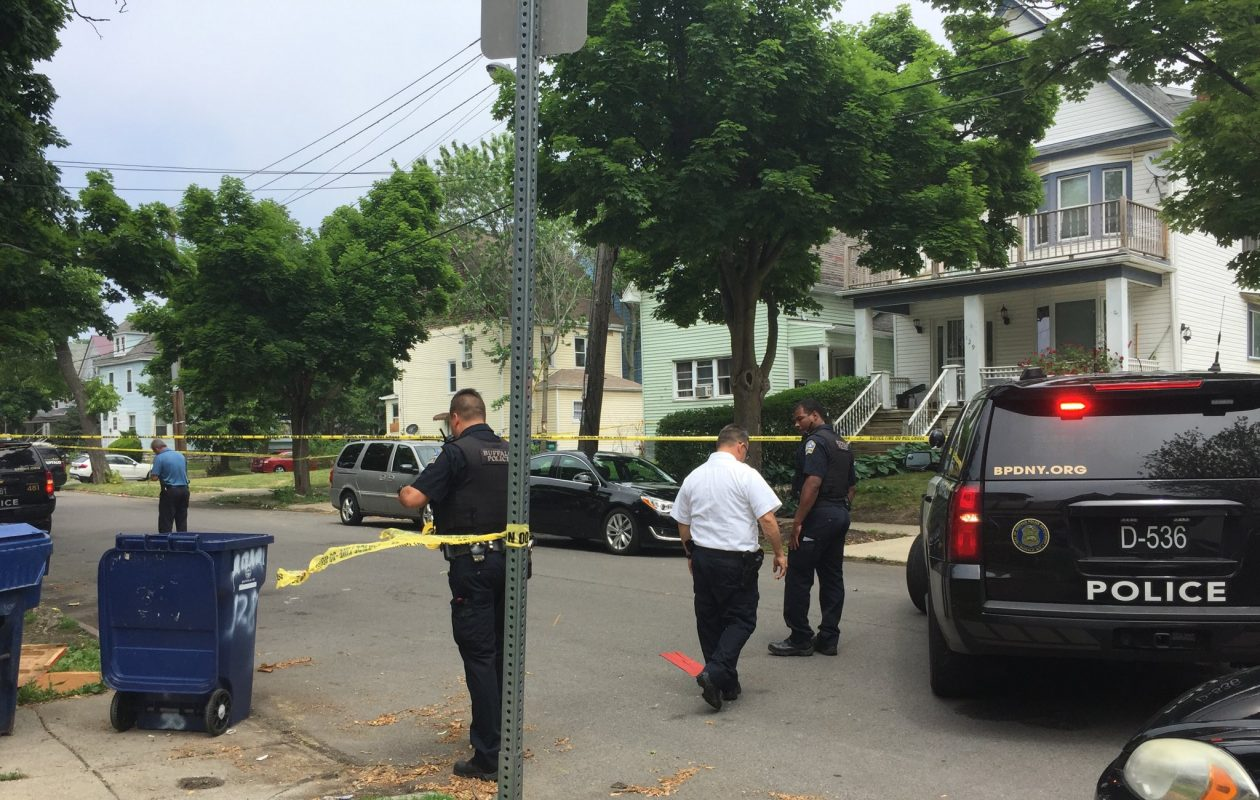 Two men were shot while in a car on Herkimer Street on June 13. (Maki Becker/Buffalo News)