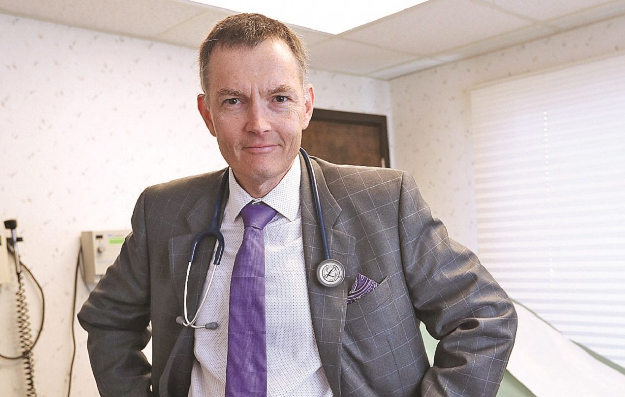 """""""Every age thinks they're living in the golden age of medicine but I really think that we are,"""" says Dr. Thomas J. Madejski, Buffalo native and president of the Medical Society of the State of New York. (Sharon Cantillon/Buffalo News)"""