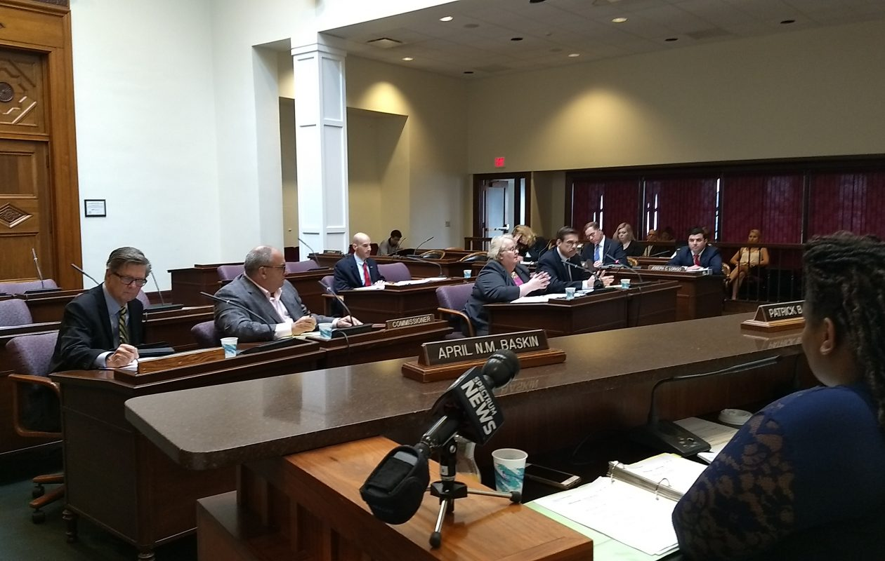 Erie County Water Authority leaders defend themselves against critics at a committee hearing of the county Legislature on Thursday. (Sandra Tan/Buffalo News)