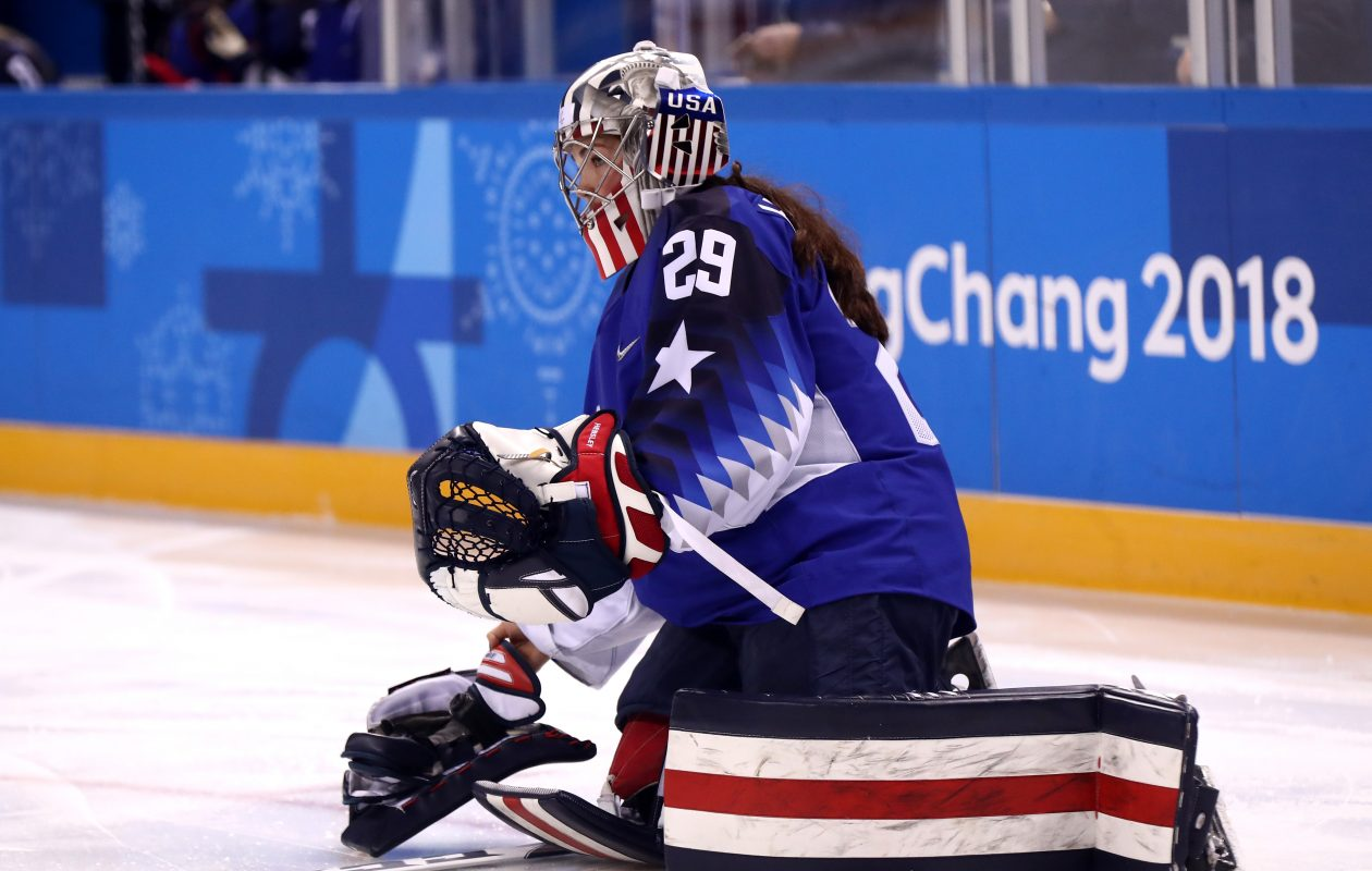 Team USA goaltender Nicole Hensley has signed with the Beauts. (Ronald Martinez/Getty Images file photo)