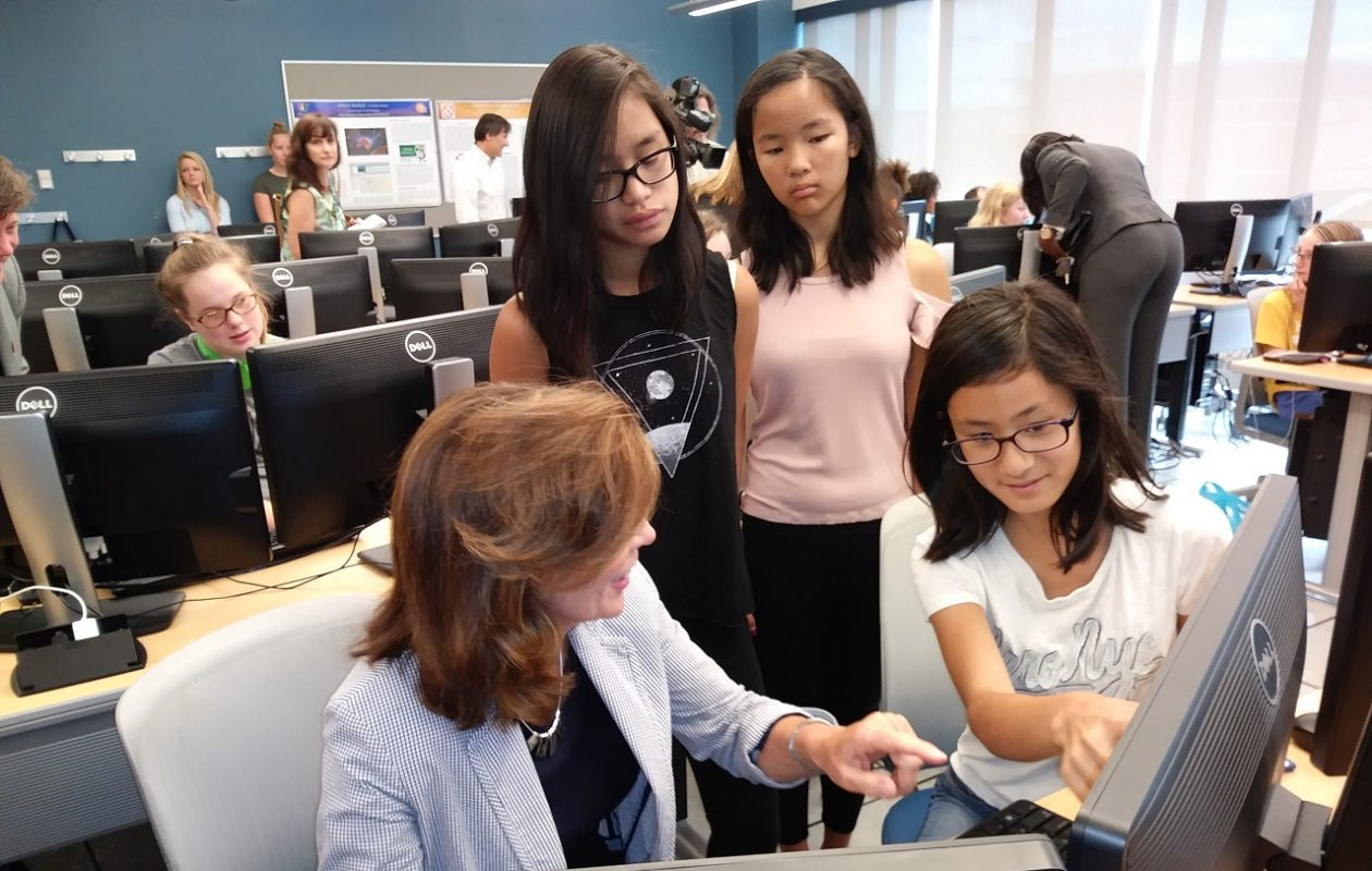 Lt. Gov. Kathy Hochul visited a workshop during last year's WNY Stem Hub Girls Coding Project at SUNY Buffalo State.