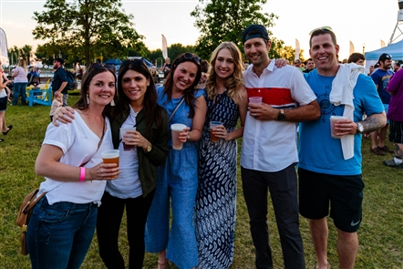 Smiles at Fitz and The Tantrums at Canalside Live