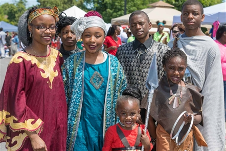 Smiles at Juneteenth Parade and Festival