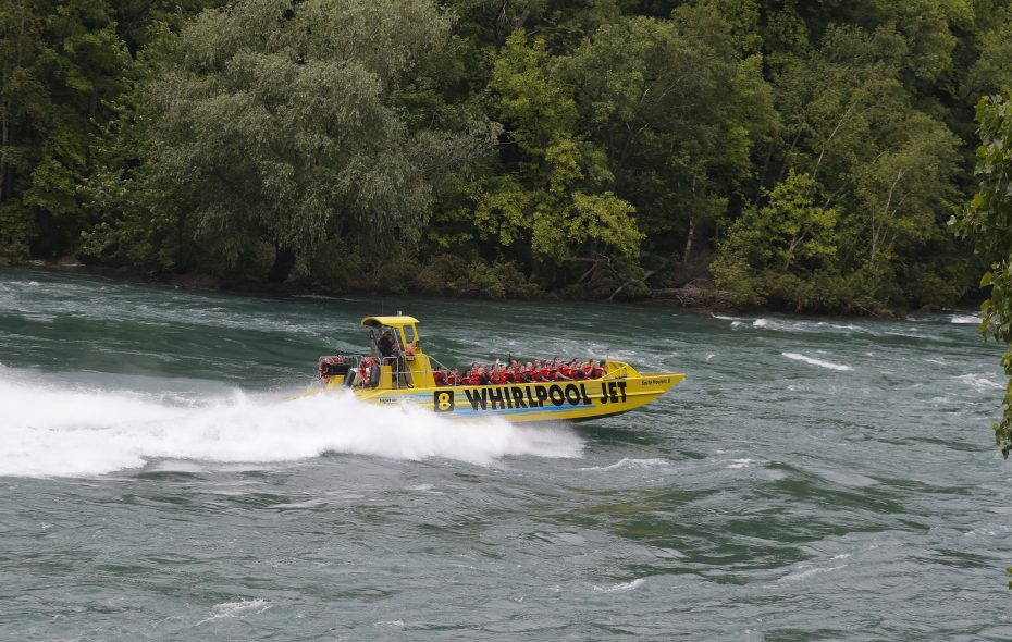 A Whirlpool Jet Boat in the lower Niagara River    between Whirlpool State Park and Devil's Hole State Park in Niagara Falls, pictured on Wednesday, July 5, 2017. (John Hickey/Buffalo News)