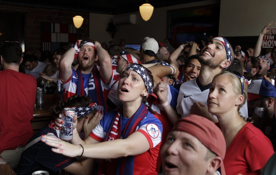 United States soccer fans react during World Cup 2014 in Mes Que. The Hertel bar was recognized Friday by the Travel Channel. (John Hickey/News file photo)